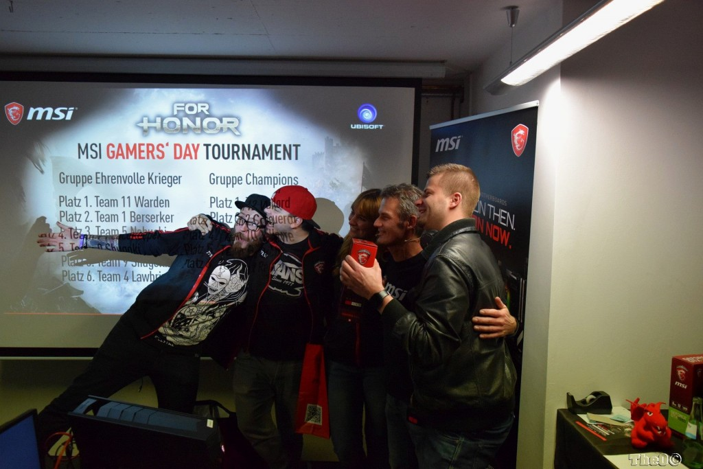 Siegerehrung MSI Gamers Day