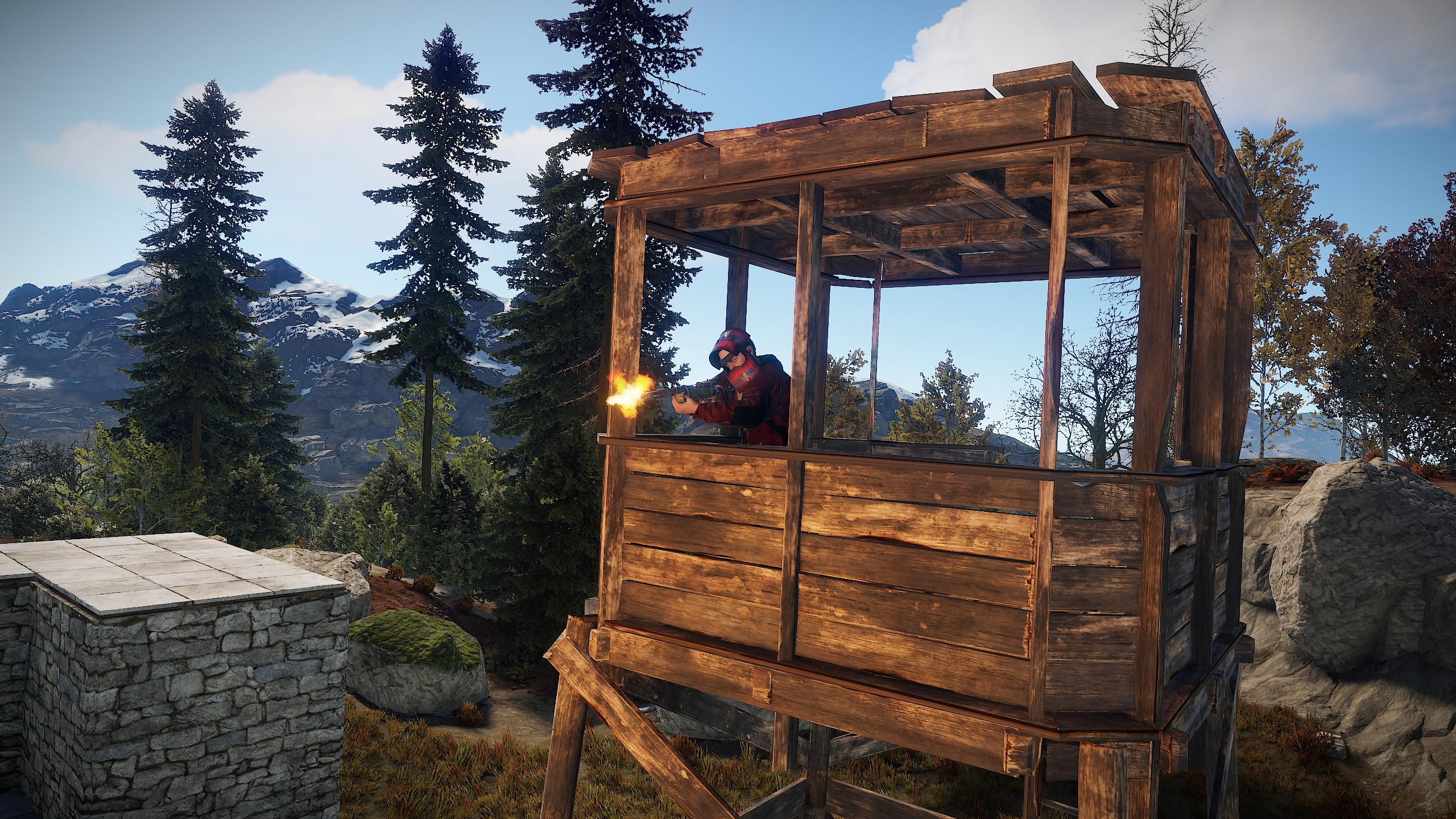 Rust - Teams System,Watchtowers, Jack Hammers and more